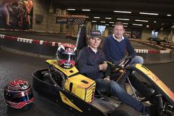 Max Verstappen, Red Bull Racing, mit seinem Vater Jos Verstappen