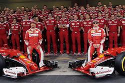 Sebastian Vettel, Ferrari; Kimi Räikkönen, Ferrari