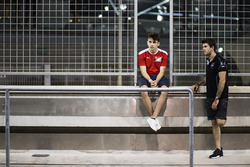 Charles Leclerc, ART Grand Prix with GP2 Driver Norman Nato