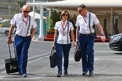 Edward Charlton, Williams Non-Executive Director with Claire Williams, Williams Deputy Team Principal and Mike O'Driscoll, Williams Group CEO