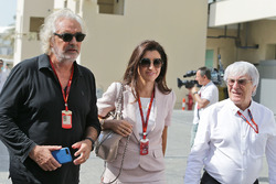 Flavio Briatore, with Fabiana Flosi and her husband Bernie Ecclestone