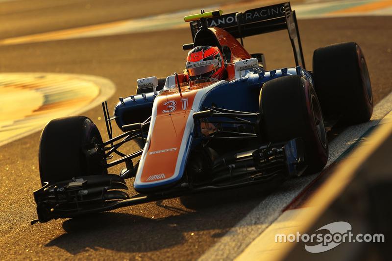 16 місце - Естебан Окон, Manor Racing. Умовний бал - 6,034