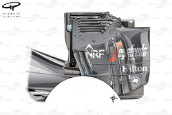 McLaren MP4-31 achtervleugel (getest maar nooit mee geracet)
