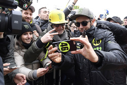 Valentino Rossi with fans