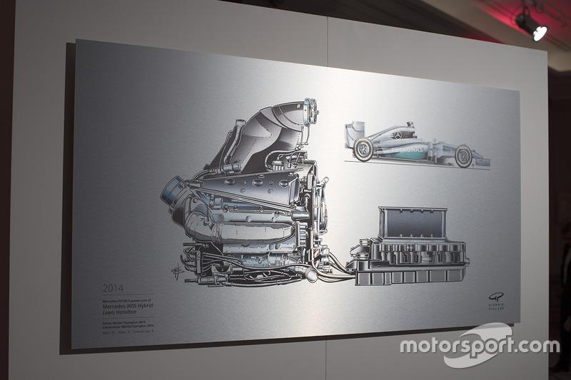 Чертеж Джорджо Пиолы Mercedes W05 Hybrid Льюиса Хэмилтона