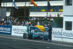 Mauricio Gugelmin, Leyton House CG901 Judd retires on lap 58 with an engine failure after he had been running in a comfortable 2nd position