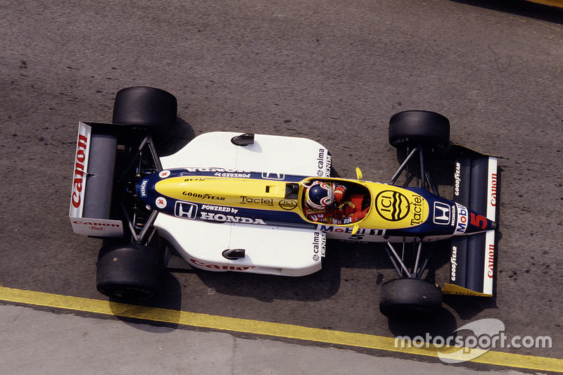 #5: Nigel Mansell, Williams FW11B, Honda
