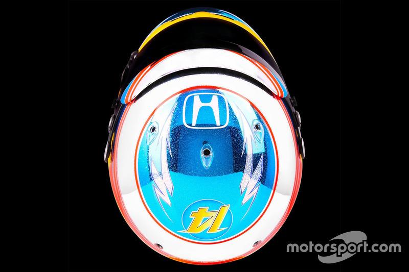 Casco de Fernando Alonso en 2016 (Singapur)