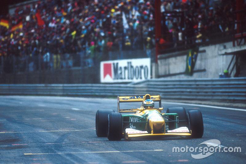Михаэль Шумахер на Гран При Бельгии 1992 года