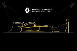 Renault F1 Team teaser del lancio della vettura 2017