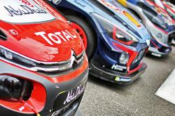 Autos del WRC en Mónaco