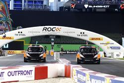 Felipe Massa and Petter Solberg in the RX Supercar Lite