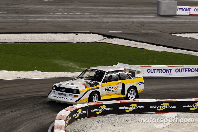 ... mit einem alten Audi S1 aus der Gruppe-B-Ära der Rallye-WM