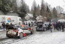 Jari-Matti Latvala, Miikka Anttila, Toyota Yaris WRC, Toyota Racing, Ott Tänak, Martin Järveoja, Ford Fiesta WRC, M-Sport