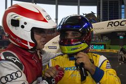 Champion of Champions Juan Pablo Montoya, viert met tweede Tom Kristensen