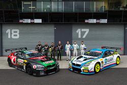 #7 BMW Team SRM, BMW M6 GT3: Tony Longhurst, Mark Skaife, Russell Ingall, Timo Glock, #60 BMW Team SRM, BMW M6 GT3: Steve Richards, Mark Winterbottom, Marco Wittmann