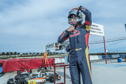 Carlos Sainz Jr., Scuderia Toro Rosso gets ready to perform at the Karting Club Correcaminos in Recas
