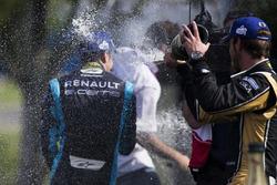 Podium : Sébastien Buemi, Renault e.Dams et Jean-Eric Vergne, Techeetah