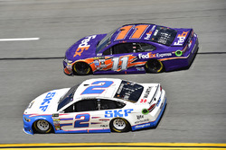 Brad Keselowski, Team Penske, Ford; Denny Hamlin, Joe Gibbs Racing, Toyota