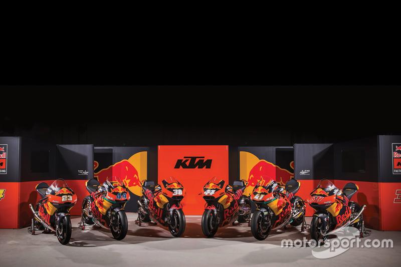 Alle motoren van KTM
