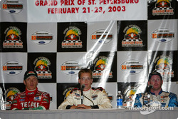 Press conference: pole winner Sébastien Bourdais with Adrian Fernandez and Paul Tracy