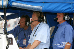 Craig Pollock in PK Racing pit area