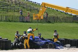 Alex Tagliani in the tires