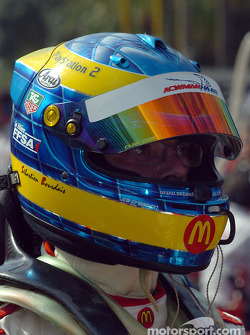A disappointed Sébastien Bourdais after losing pole to Paul Tracy