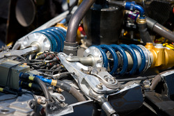 Car detail, Alex Tagliani, Sam Schmidt Motorsports back in the pits with damage