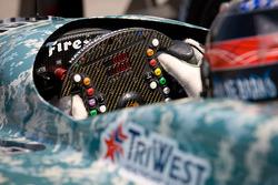 Steering wheel of J.R. Hildebrand, Panther Racing