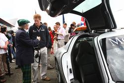 Sir Jackie Stewart con Prince Harry
