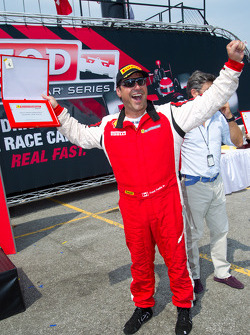Best performance of the day award to #64 Algar Ferrari Ferrari F430 Challenge: Frank Fusillo