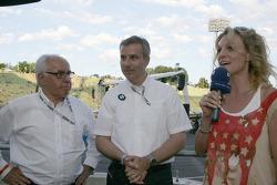 Hans Werner Aufrecht, Team Chef HWA, ITR President, Jens Marquardt BMW Motorsport Director and Christina Surer