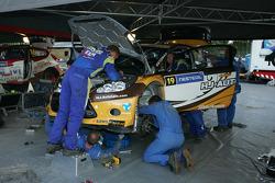 Ford Fiesta RS WRC of Jari Ketomaa and Miika Teiskonen