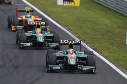 Jules Bianchi leads Esteban Gutierrez and Christian Vietoris