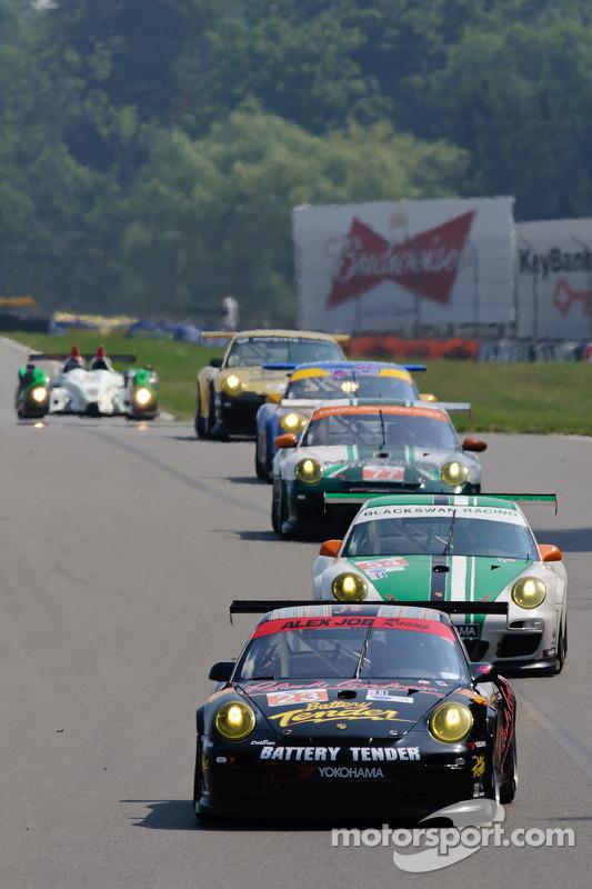 Alex Job Racing Porsche 911 GT3 Cup : Bill Sweedler, Leh Keen; Black Swan Racing Porsche 911 GT3 Cup : Tim Pappas, Jeroen Bleekemolen