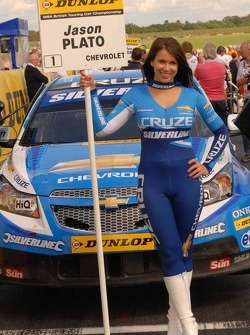 Sophie Fisher; Grid Girl to Jason Plato