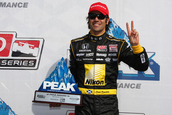 Pole winner Dario Franchitti, Target Chip Ganassi Racing
