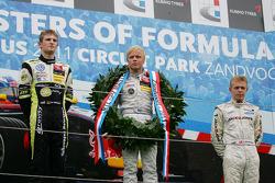 Winner Felix Rosenqvist, Mucke Motorsport, Dallara F308 Mercedes, second place Marco Wittmann, Signature, Dallara F308 Volkswagen, third place Kevin Magnussen, Carlin, Dallara F308 Volkswagen