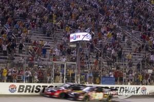 Kyle Busch takes the checkered flag