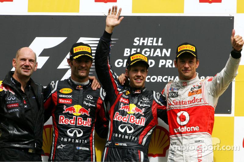 2011. Подіум: 1. Себастьян Феттель, Red Bull-Renault. 2. Марк Веббер, Red Bull-Renault. 3. Дженсон Баттон, McLaren-Mercedes