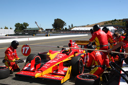 Pit stop for Martin Plowman, AFS/Sam Schmidt Motorsports