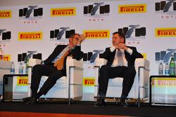 FOTA Fans Forum 2011, Milano: Stefano Domenicali, Team Principal Scuderia Ferrari and Paul Hembery, Pirelli Motorspor Director