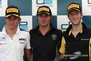 Luca Filippi, Charles Pic and Romain Grosjean