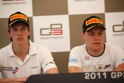Valtteri Bottas in the press conference with James Calado