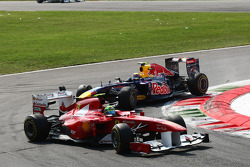 Mark Webber, Red Bull Racing crashes with Felipe Massa, Scuderia Ferrari