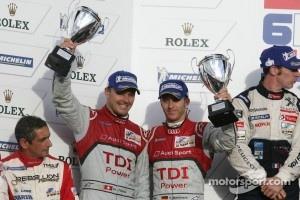 LMP1 podium: second place Timo Bernhard and Marcel Fässler