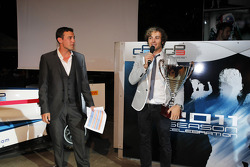 Will Buxton collecting his trophy for 2nd in the GP2 drivers championship
