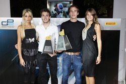Jules Bianchi and Christian Vietoris collect their Dallara trophy