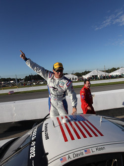 GT 2011 champion Andrew Davis celebrates